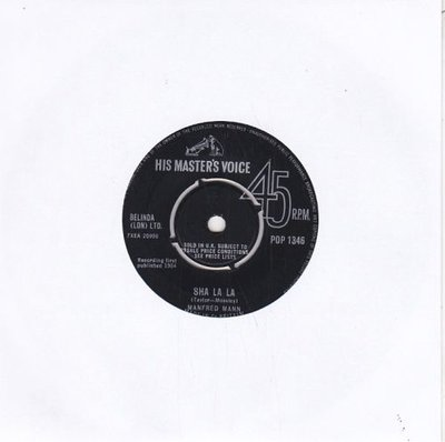 Manfred Mann - Sha la la + John Hardy (Vinylsingle)