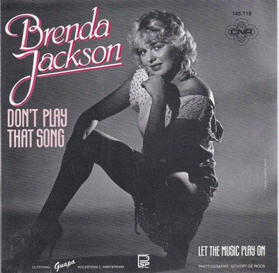 Brenda Jackson - Don't Play That Song + Let The Music Play On (Vinylsingle)