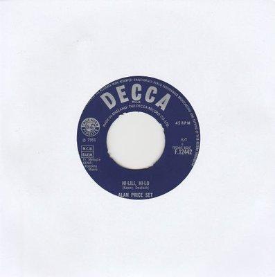 Alan Price - Hi-Lili. Hi-lo + Take me home (Vinylsingle)