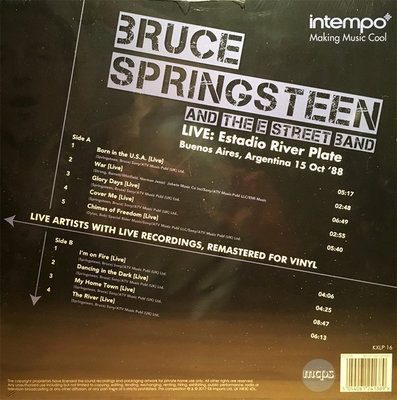 BRUCE SPRINGSTEEN - LIVE ESTADIO RIVER PLATE 15 OCT 88 (Vinyl LP)