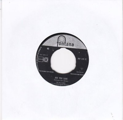 Allisons - Are you sure + There's one thing more (Vinylsingle)
