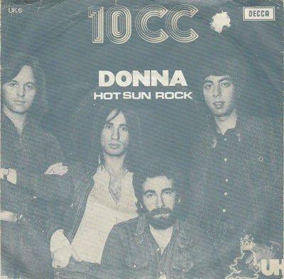 10CC - Donna + Hot sun rock (Vinylsingle)