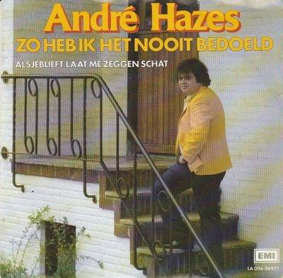 Andre Hazes - Zo heb ik het nooit bedoeld + Alsjeblieft (Vinylsingle)
