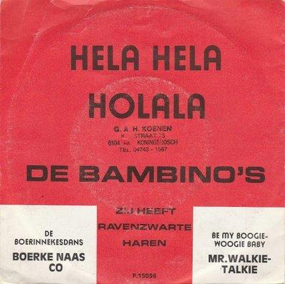 Bambino's - Hela Hela Holala!!! + Zij heeft ravenzwarte haren (Vinylsingle)