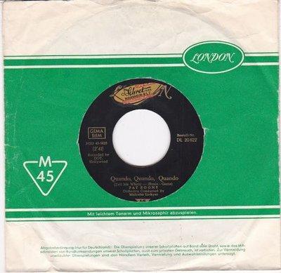 Pat Boone - Quando. quando. quando + Willing and eager (Vinylsingle)