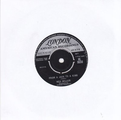 Ned Miller - From a jack to a king + Parade of broken heart (Vinylsingle)