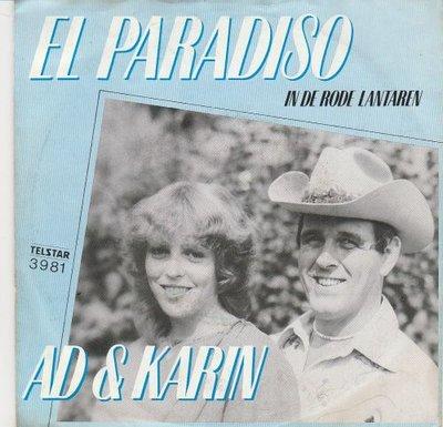 Ad en Karin - El paradiso + In de rode lantaarn (Vinylsingle)