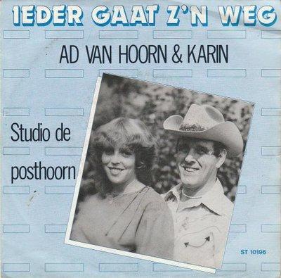 Ad en Karin - Ieder gaat z'n weg + Studio de posthoorn (Vinylsingle)