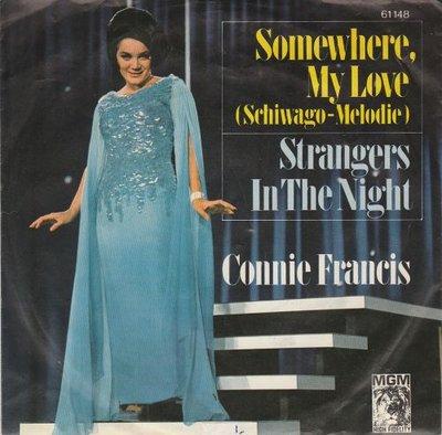 Conny Francis - Somewhere my love + Strangers in the night (Vinylsingle)
