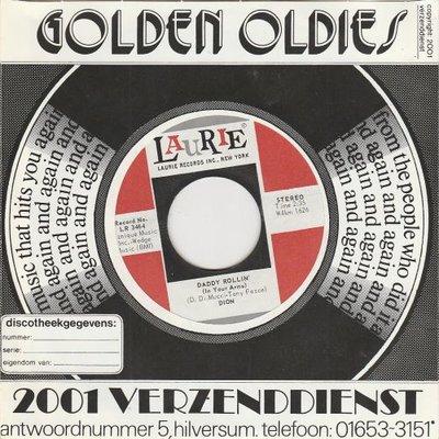 Dion - Daddy rollin' + Abraham, Martin and John (Vinylsingle)