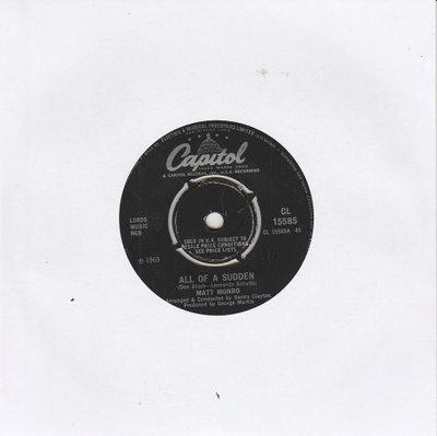 Matt Monroe - All Of A Sudden + That's The Way It Goes (Vinylsingle)