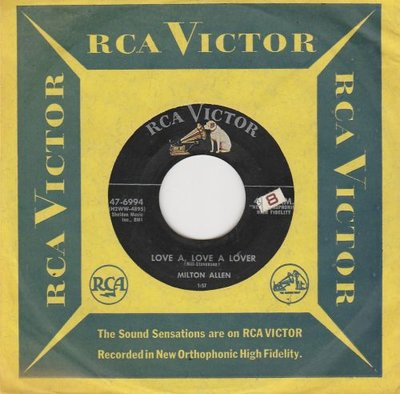 Milton Allen - Love A, Love A Lover + Just Look, Don't Touch, She's Mine (Vinylsingle)