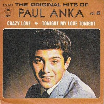 Paul Anka - Crazy love + Tonight my love tonight (Vinylsingle)