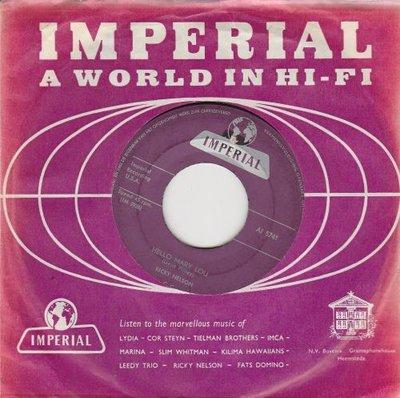 Ricky Nelson - Hello Mary Lou + Travelin' man (Vinylsingle)