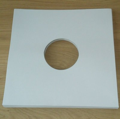Cardboard LP cover white with centre hole - 10 pieces
