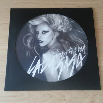 LP Picture Disc Cover (Black) - 10 pieces
