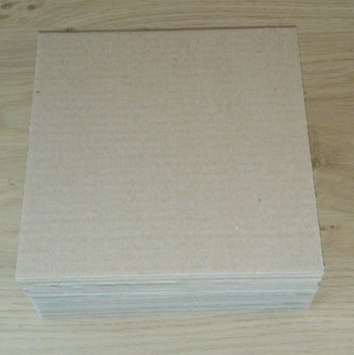 "Shipping cardboard stiffeners for 7"" Vinylsingles - 25 pieces"