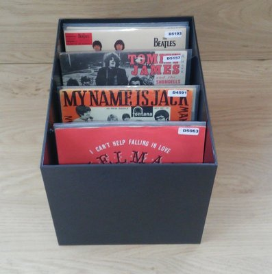 Black Single Box for 80 Vinylsingles