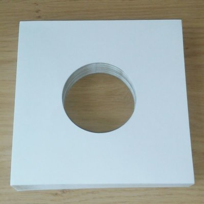 "Black Cardboard Sleeves for 7"" Vinylsingles - 20 pieces"