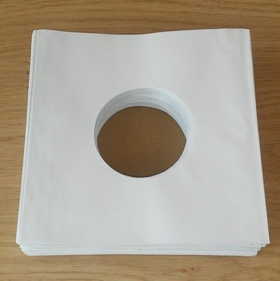 "White Paper Sleeves (Standard Quality) for 7"" Vinylsingles - 100 pieces"