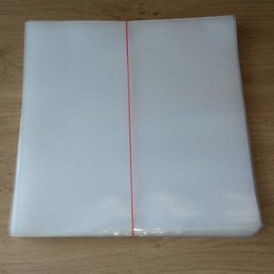 "Plastic Outersleeves for 12"" Vinyl LP's (150my) - 50 pieces"