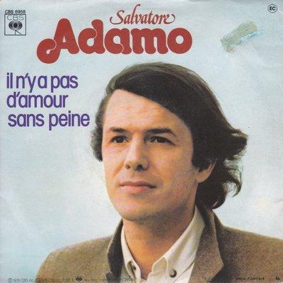 Adamo - Il n'ya pas d'amour sans peine + Un amour de cocagne (Vinylsingle)
