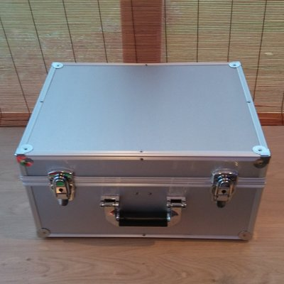 Vinylsingle Flightcase Silver (2 rows) New