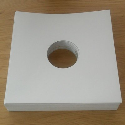 "White Cardboard Sleeves for 10"" Vinyl / 78RPM Records - 25 pieces"