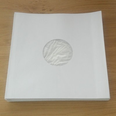 "White Paper Sleeves with inner foil for 10"" Vinyl/78RPM Records - 100 pieces"