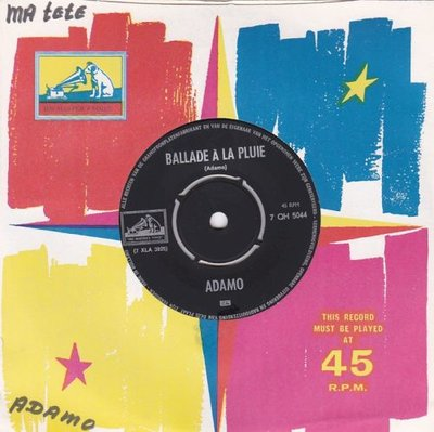 Adamo - Ballade a la pluie + Ma tete (Vinylsingle)