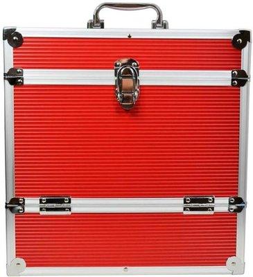 LP Flightcase Rood voor 40 platen (zilver) - per stuk