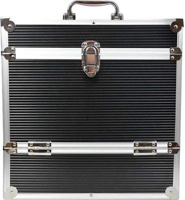 LP Flightcase Zwart voor 40 platen (zilver) - per stuk