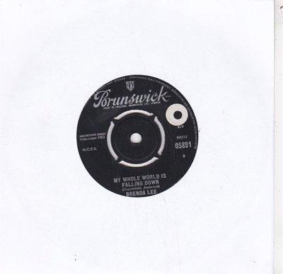 Brenda Lee - My Whole World Falling Down+ I Wonder (Vinylsingle)