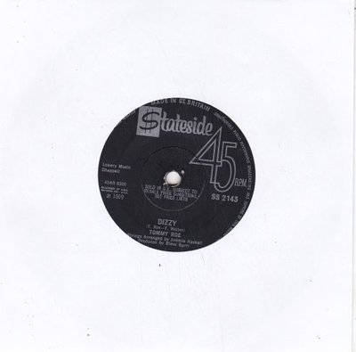 Tommy Roe - Dizzy + The you I need (Vinylsingle)