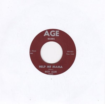 Ricky Allen - Help Me Mama + The Big Fight (Vinylsingle)