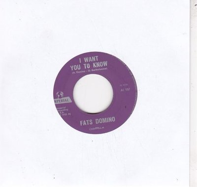 Fats Domino - Hands across the table + I want you to know (Vinylsingle)