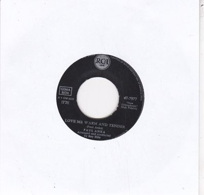 Paul Anka - Love me warm and tender + I'd like to know (Vinylsingle)