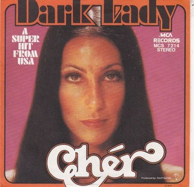 Cher - Dark lady + Two people clinging to the thread (Vinylsingle)