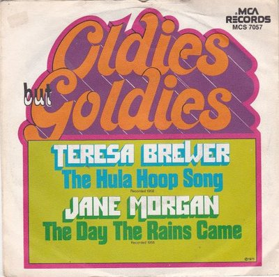 Teresa Brewer / Jane Morgan - Hula hoop song + The day the rains came (Vinylsingle)