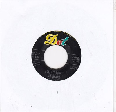 Pat Boone - Lover's lane + Ten lonely guys (Vinylsingle)