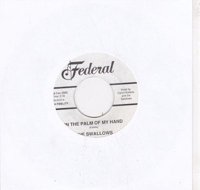 Swallows - In The Palm Of My Hand + Rock-A-Bye Baby Rock (Vinylsingle)