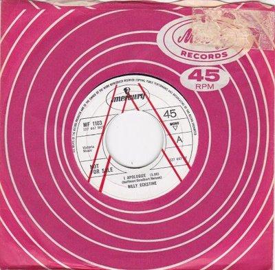 Billy Eckstine - I apologize + My foolish heart (Vinylsingle)