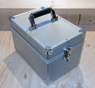 Vinylsingle Flightcase Sillver