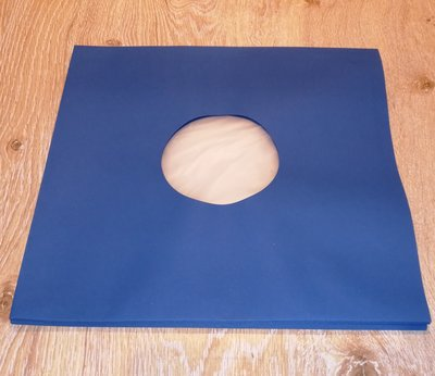 "Innersleeves for 12"" Vinyl  (Blue with antistatic inner foil) - pack 10 pieces"