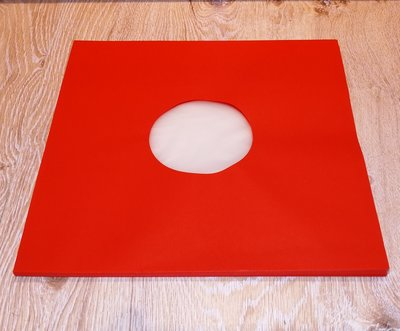 "Innersleeves for 12"" Vinyl  (Red with antistatic inner foil) - pack 10 pieces"