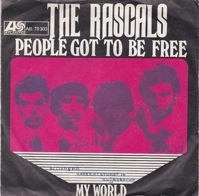 Rascals - People got to be free + My world (Vinylsingle)