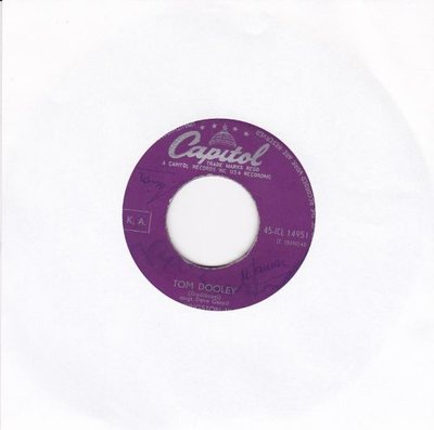 Kingston Trio - Tom Dooley + Ruby red (Vinylsingle)