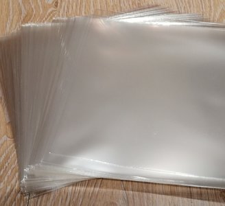 """Bright Plastic Outersleeves for 7"""" Vinylsingles (100my) - 100 pieces"""