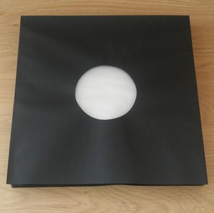 "Innersleeves for 12"" Vinyl  (black with antistatic inner foil) - pack 50 pieces"