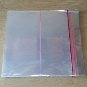 "Cellophane Outersleeves for LP's (12"") - pack 100 pieces"